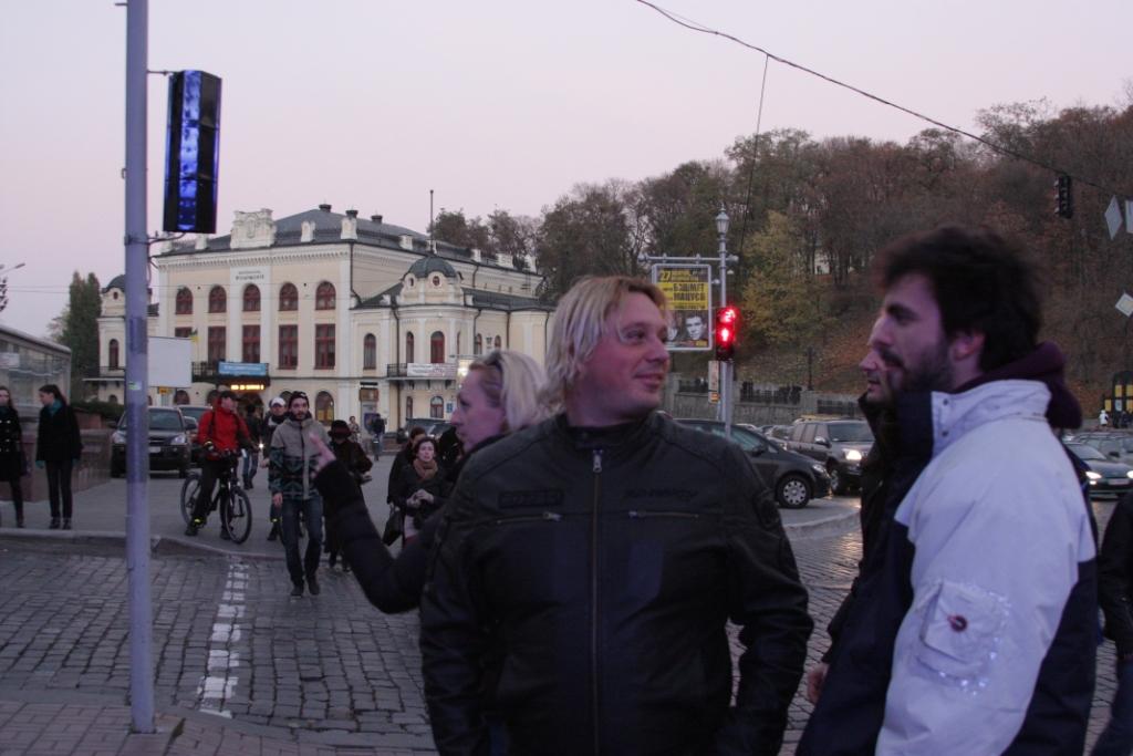 On tour, Kiev, Ukraine - October 2010