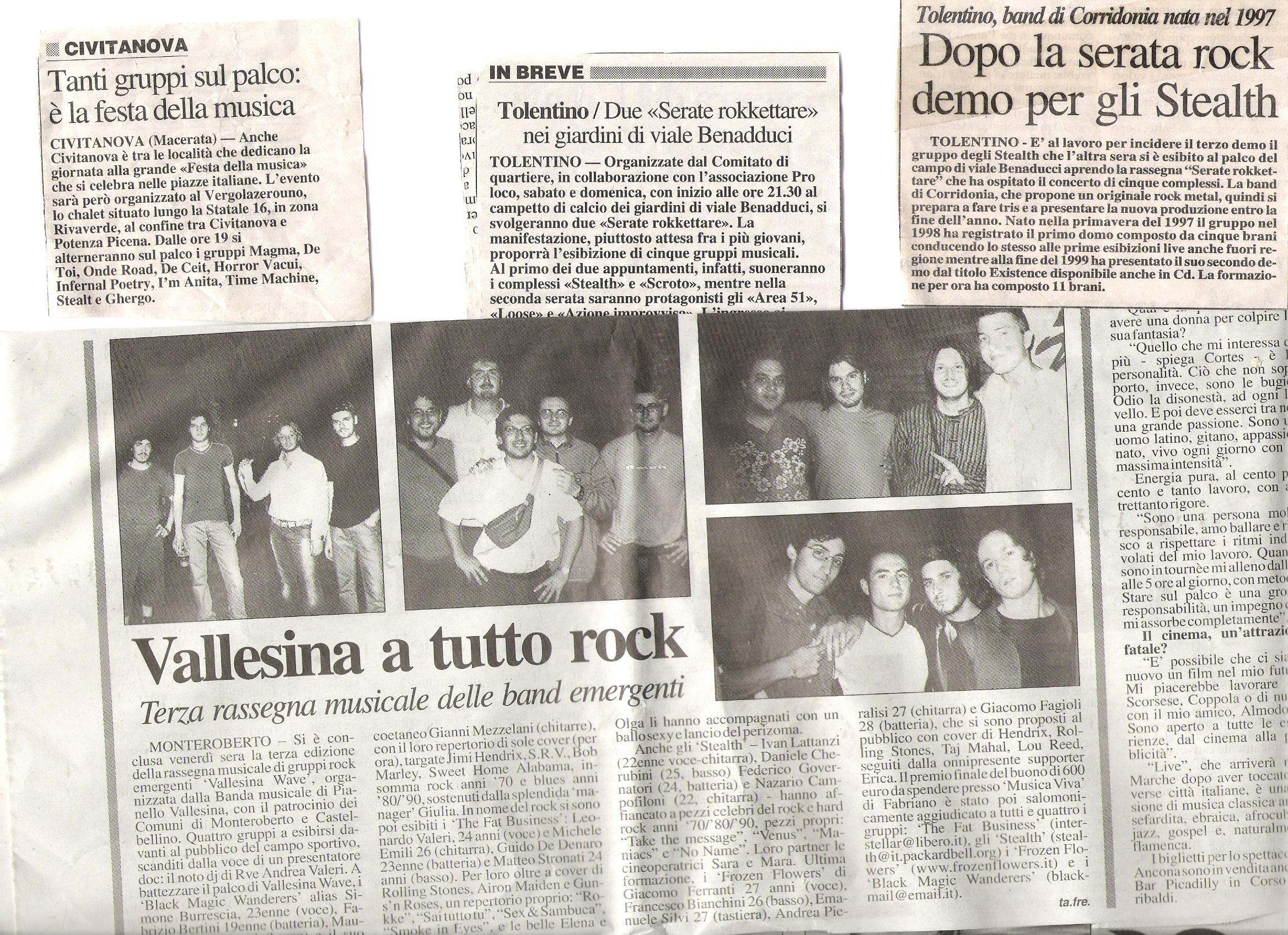 Press live gigs  2000/2002