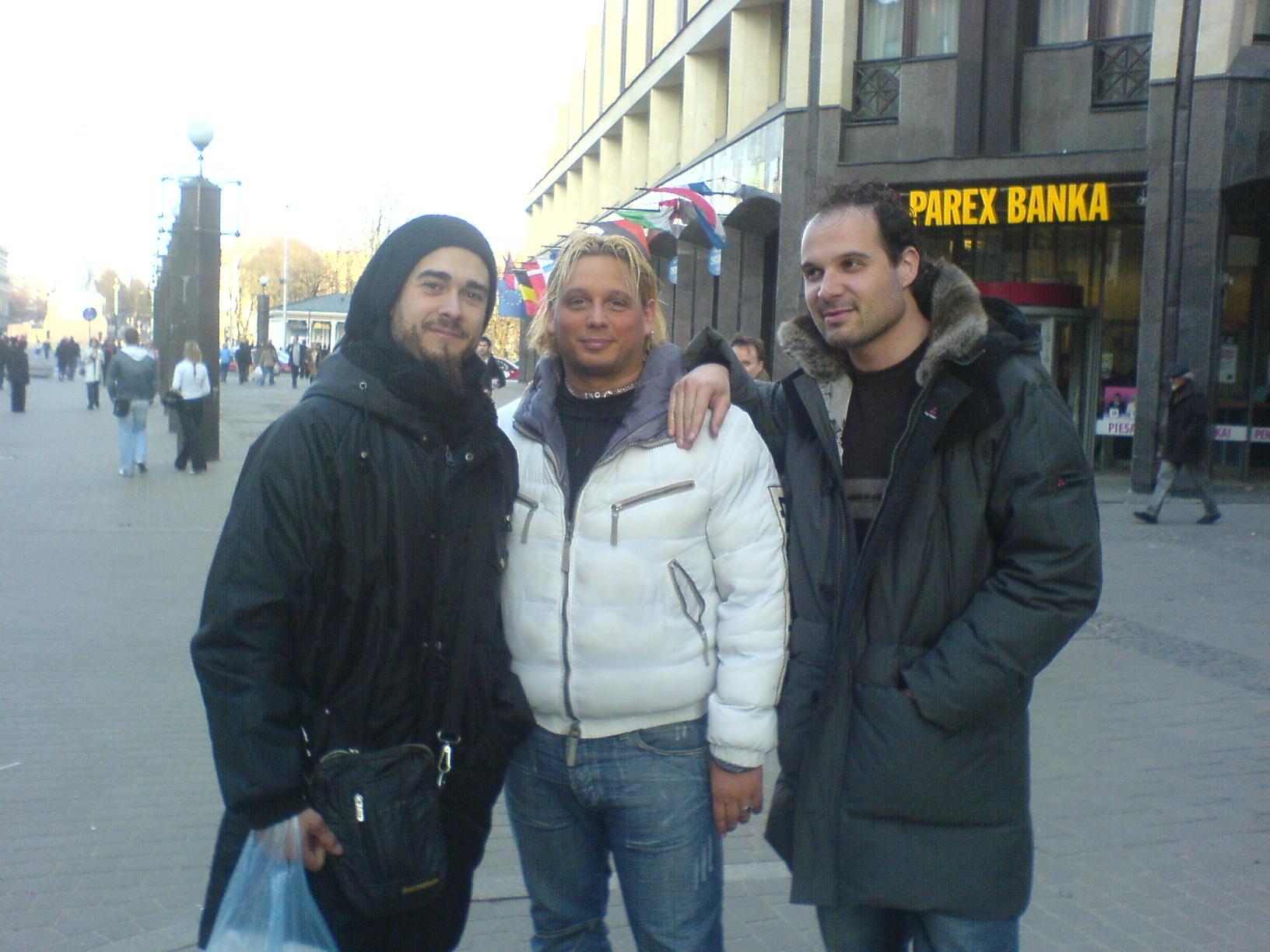 On tour, Riga, Latvia - March 2007