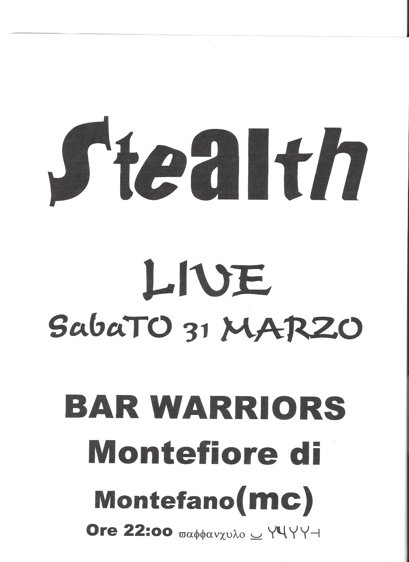 Live@Bar Warriors, Marche, Italy, 31.3.2001