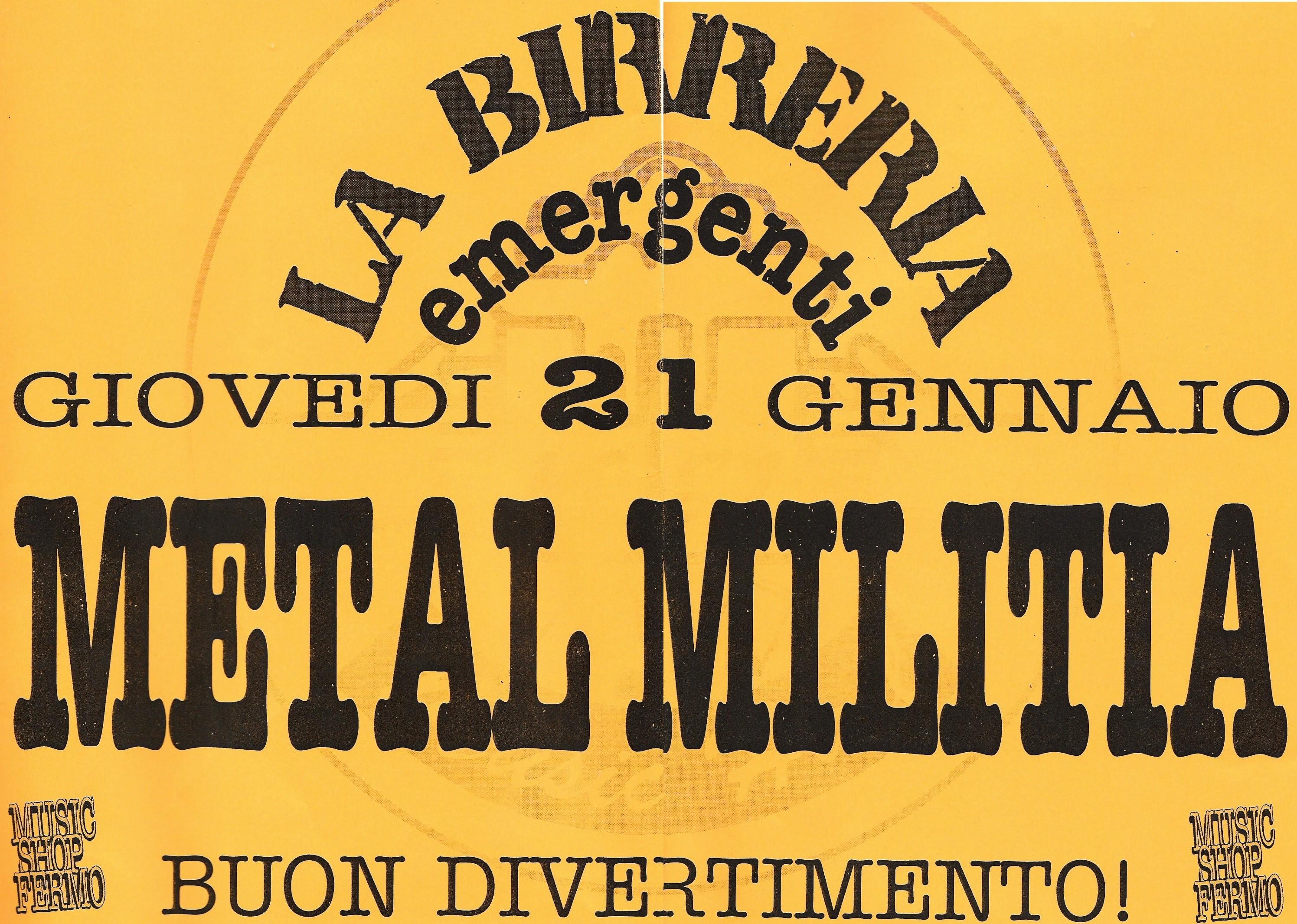 Live@La Birreria, Marche, Italy, 21.1.1999