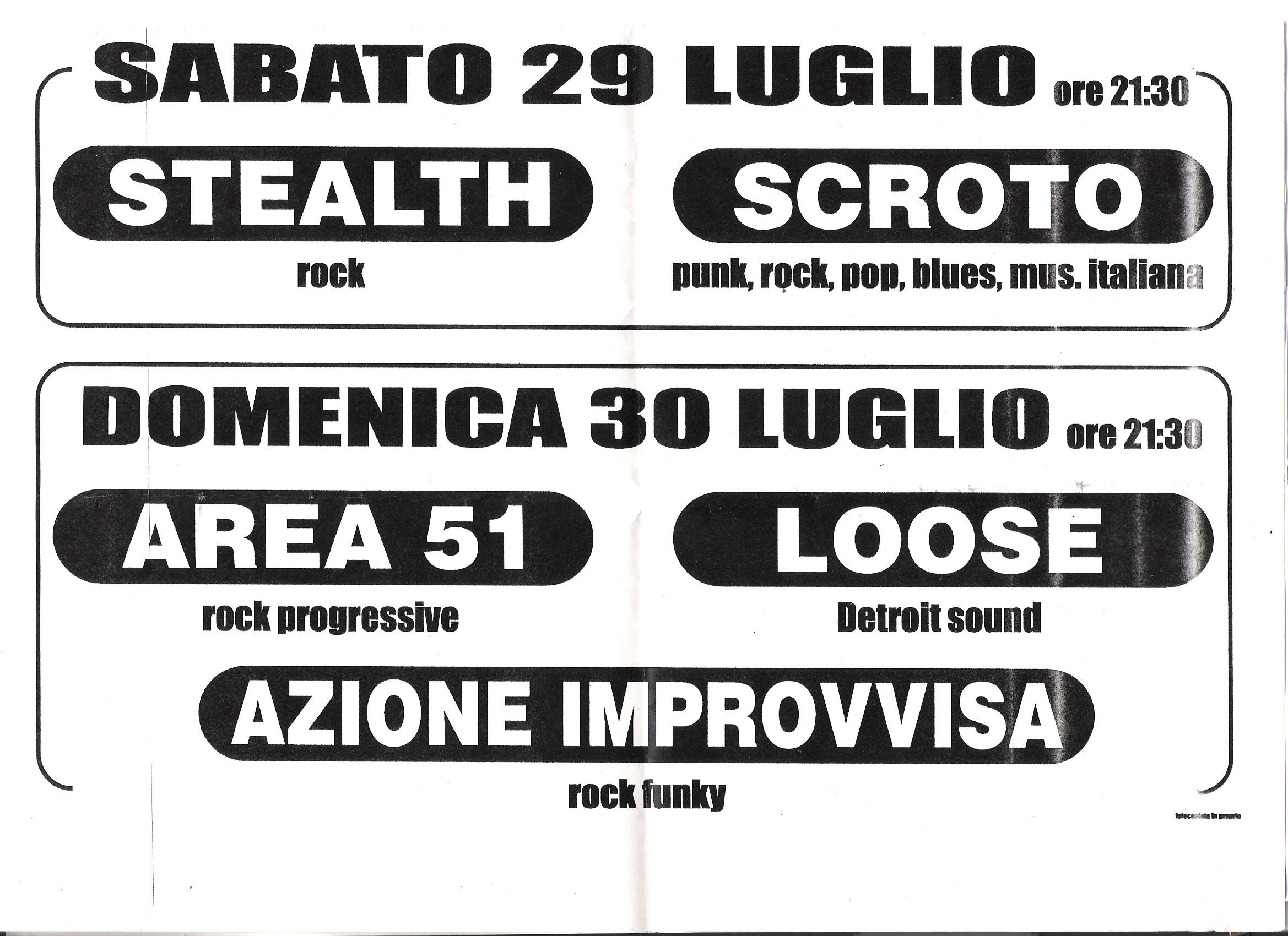 Live@Serate Rokkettare, Marche, Italy, 29.7.2000